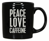 "Decorative Box Sign Mug - ""Peace Love Caffeine...Box Sign Mug"""