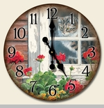 "Decorative Clock - ""A Lazy Day Clock"""