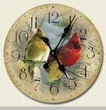 "Decorative Clock - ""Feathered Freinds Clock"""