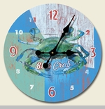 "Decorative Clock - ""Jumbo Crab Clock"""