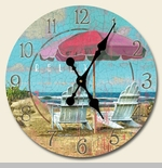 "Decorative Clock - ""Relax At The Beach Clock"""