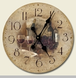 "Decorative Clock - ""Vintage Wine Clock"""
