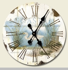 "Decorative Clock - ""Wetland Shorebirds Clock"""