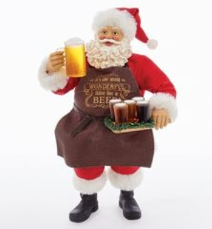 """Decorative Figurine - """"Beer Santa -It Is The Most Wonderful Time For A Beer"""""""