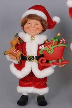 """Decorative Figurine - """"Elf With A Reindeer And Sleigh"""""""