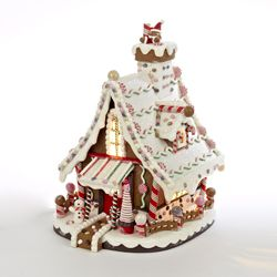 "Decorative Figurine - ""Gingerbread Lighted House"""