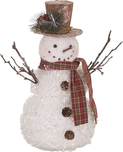 "Decorative Figurine - ""Glitter Snowman"""