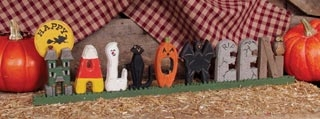 "Decorative Figurine - ""Halloween Letters"""