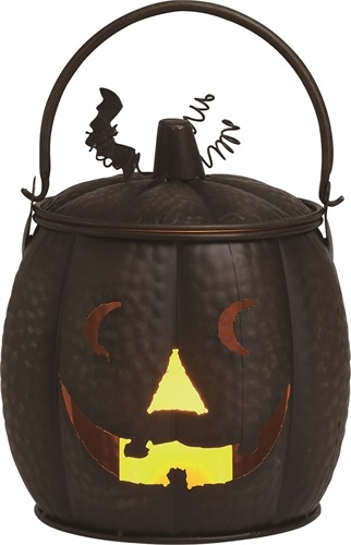 "Decorative Figurine - ""Metal Pumpkin Lantern"""