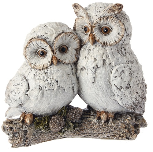 "Decorative Figurine - ""Owls On A Branch"""