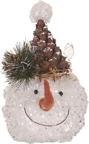 "Decorative Figurine - ""Pine Cone Hat Snowman"""