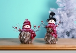 "Decorative Figurine - ""Pine Cone Snowman"""