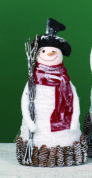 "Decorative Figurine - ""Pine Cone Snowman"" - Medium"