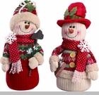 "Decorative Figurine - ""Plush Snowman Figurine"""
