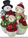 "Decorative Figurine - ""Snowman Family"""