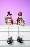 "Decorative Figurine - ""Snowman Shelf Sitter"""