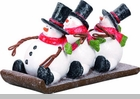 "Decorative Figurine - ""Snowmen On A Sled"""