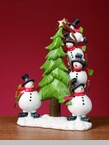 "Decorative Figurine - ""Snowmen With A Tree"""