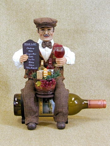 "Decorative Figurine - ""Wine Bottle Holder"" -  14"""