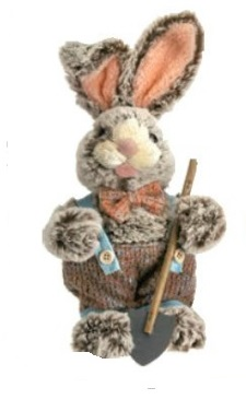 "Decorative Figurines - ""Bunny With Shovel"" - Boy - 11"""