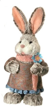 "Decorative Figurines - ""Girl Bunny"" - 17"""