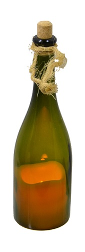 """Decorative Glass Bottle - """"Decorative Wine Bottle With A Candle"""""""