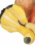 """Decorative Gourd - """"Decorative Artificial Gourd"""" - Yellow & Green -  Large"""