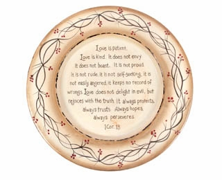 """Decorative Plate - """"Love Is Plate"""""""