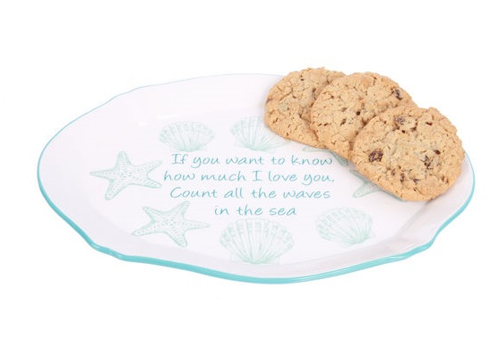 "Decorative Plate - ""Waves In The Sea Giving Plate"""