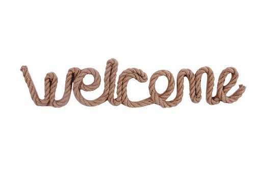 "Decorative Sign - ""Welcome"""