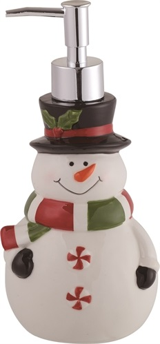 "Decorative Soap Dispenser - ""Snowman Soap Dispenser"""