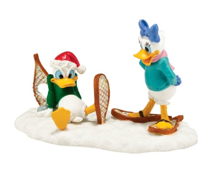 "Department 56 Disney Village- ""Donald's Snowshoe Adventure"""