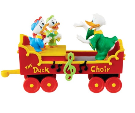 "Department 56 Disney Village- ""Donalds Duck Choir"""