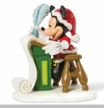 "Department 56 Disney Village - ""Mickey's Christmas List"""