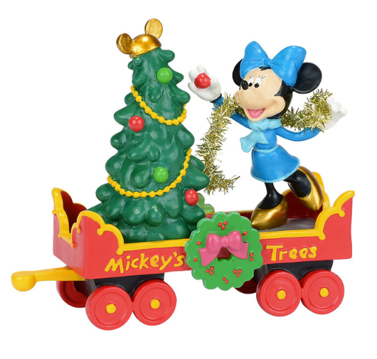"Department 56 Disney Village- ""Mickey's Holiday Tree Car"""