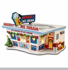 "Department 56 Disney Village - ""Mickey's Ice Cream Shop"""