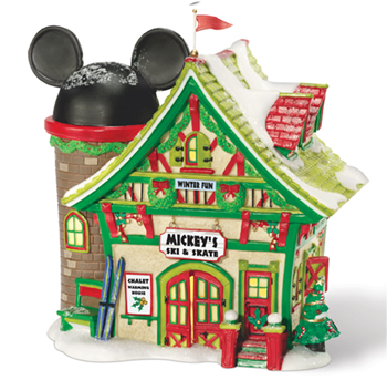 "Department 56 Disney Village - ""Mickey's Ski & Skate Shop"""