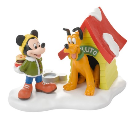 "Department 56 - Mickey's Christmas Village - ""A Special Snack For Pluto"""
