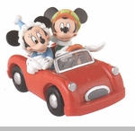 """Department 56 - Mickey's Christmas Village - """"Mickey And Minnie's Holiday Drive"""""""