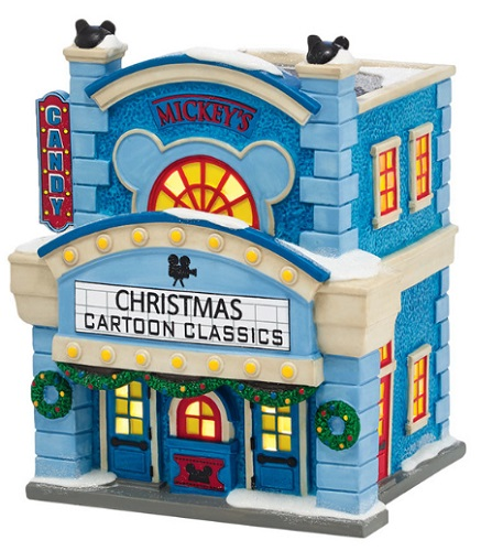 "Department 56 - Mickey's Christmas Village- ""Mickey's Cinema"""