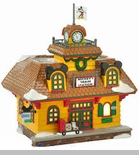 "Department 56 - Mickey's Christmas Village - ""Mickey's Train Station"""