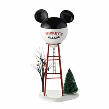 """Department 56 - Mickey's Christmas Village - """"Mickey Water Tower"""""""