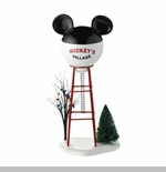 "Department 56 - Mickey's Christmas Village - ""Mickey Water Tower"""
