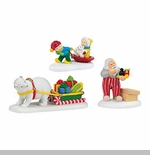 "Department 56 North Pole Series Accessory - ""Holiday Special Jolly Fellow's Accessory Set"""