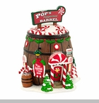 "Department 56 North Pole Village - ""Pop's Peppermint Barrel"""