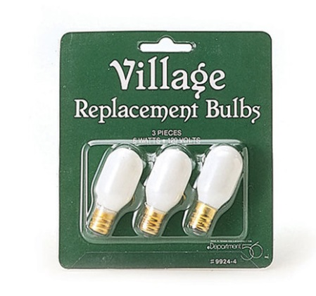 """Department 56 Village Accessory  -  """"Village Replacement Bulbs"""" - Pack of 3"""