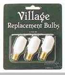 "Department 56 Village Accessory  -  ""Village Replacement Bulbs"" - Pack of 3"