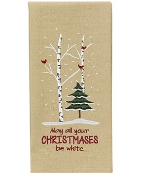"""Dish Towel - """"May All Your Christmases Be White Dish Towel"""""""