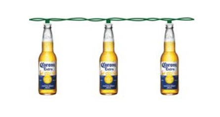 "Electric Light Set - ""Corona Bottles"" - 10 Lights"