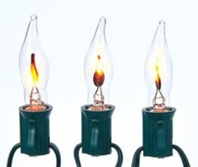 "Electric Light Set - ""Flicker Flame Lights"" - Set of 10"